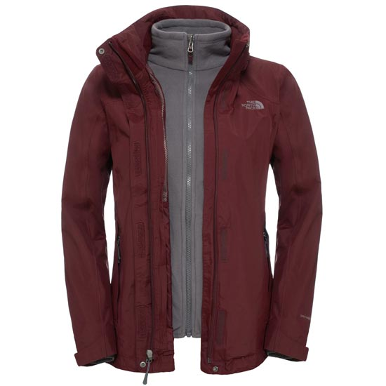 The North Face Evolution II Triclimate Jacket W - Deep Garnet Red
