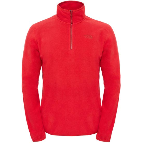 The North Face M 100 Glacier 1/4 Zip - Tnf Red