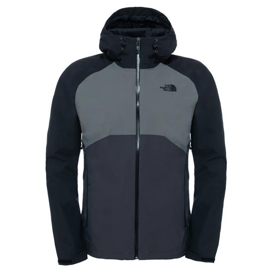 The North Face Stratos Jacket - Asphalt Grey/Fusebox Grey/TNF Black