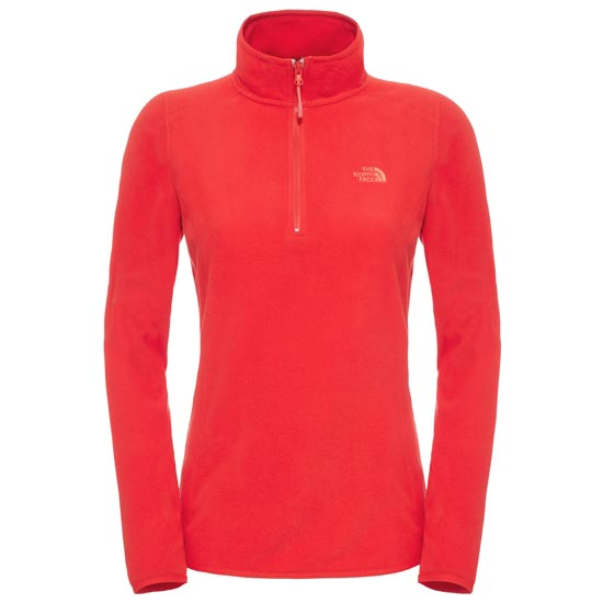 The North Face 100 Glacier 1/4 Zip W - High Risk Red