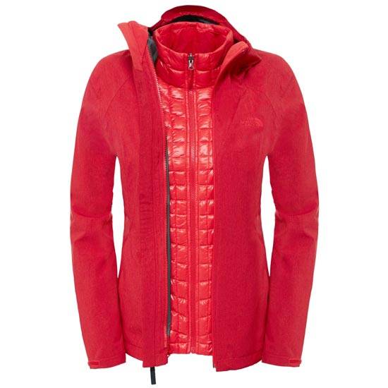 The North Face ThermoBall Triclimate Jacket W - High Risk Red Heather