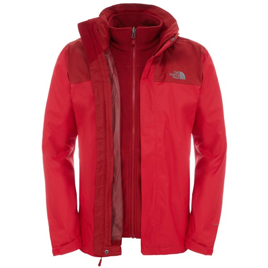 The North Face Evolve II Triclimate Jacket - TNF Red/Cardinal Red