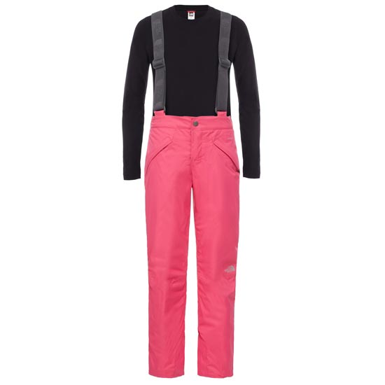 The North Face Snowquest Suspender Pant Girls - Cabaret Pink