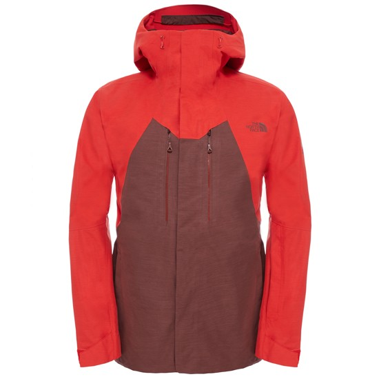 The North Face NFZ Jacket - Hot Chocolate Brown-Fiery Red