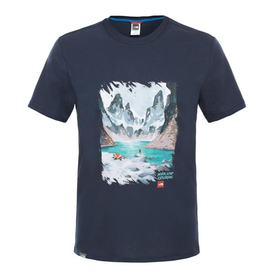 The North Face S/S Never Stop Exploring Series Tee - Urban Navy