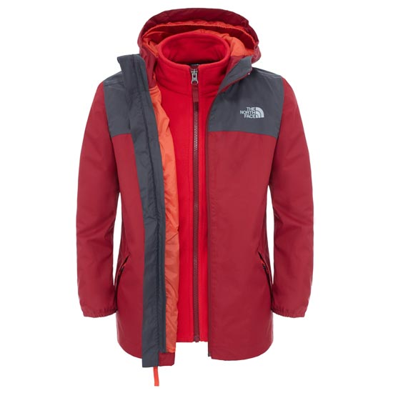 The North Face Elden Rain Triclimate® Jacket Boy - Biking Red