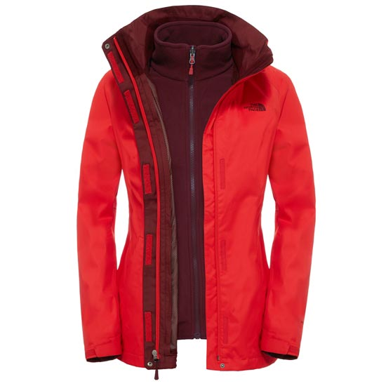The North Face Evolve II Triclimate Jacket W - High Risk Red