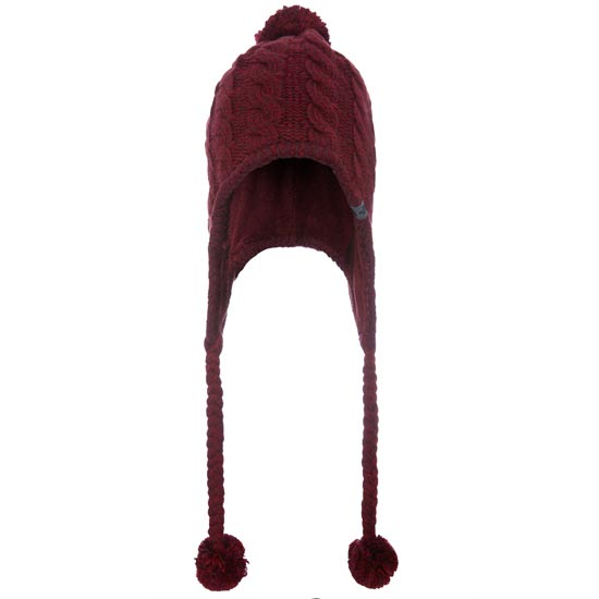 The North Face Fuzzy Earflap Beanie W - Deep Garnet Red/Biking Red