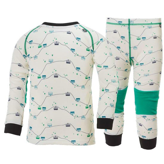 Helly Hansen K HH Warm Set 2 - White/Bright Green Prin