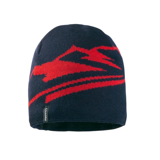 Schöffel Uppsala Knitted Hat - Navy/Red