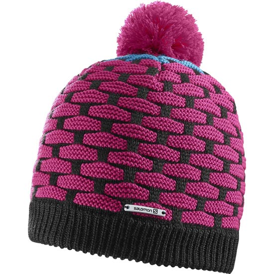Salomon Poly Beanie - Black/Pink