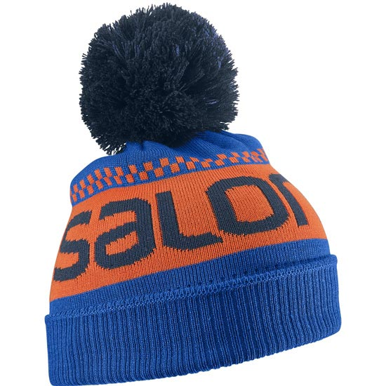 Salomon Junior Logo Beanie - Blue Yonde