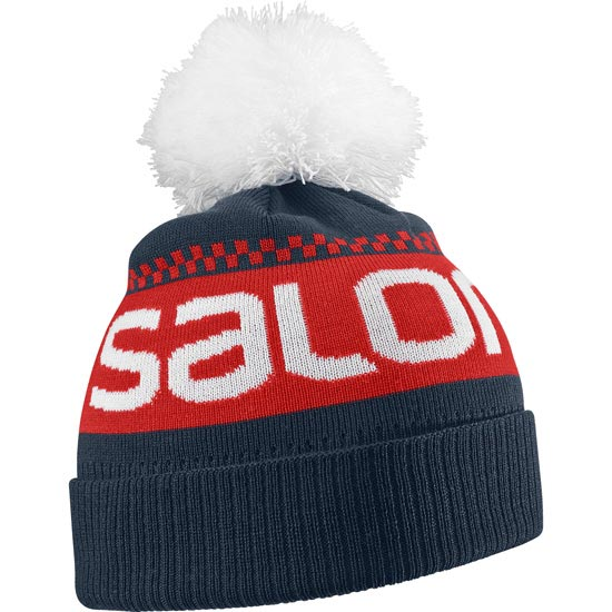 Salomon Junior Logo Beanie - Big Blue X
