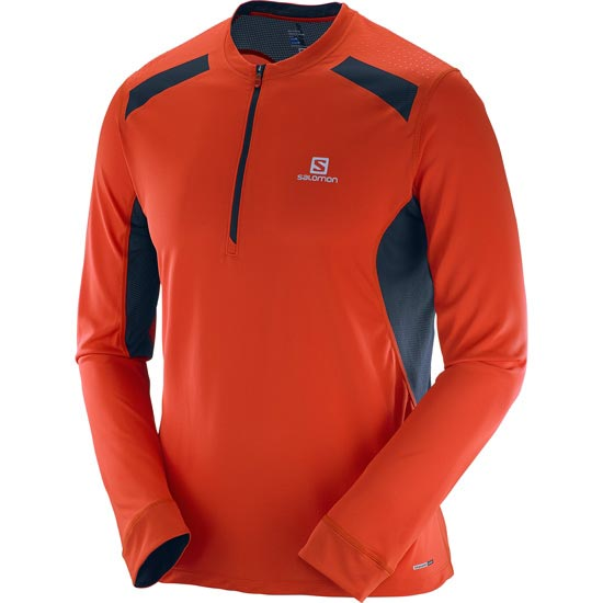 Salomon Fast Wing LS Tee - Vivid Orange