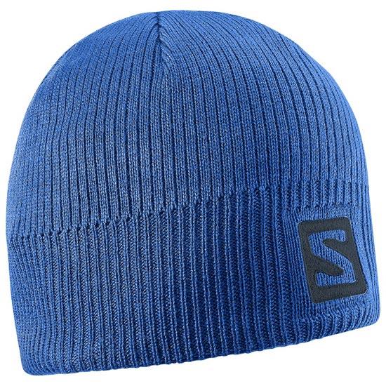 Salomon Logo Beanie - Blue Yonde