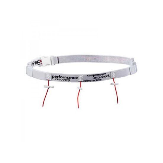 Compressport Race Belt - White