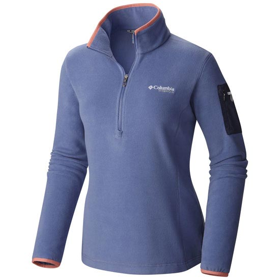 Columbia Titan Pass 1.0 1/2 Zip W - Bluebell/ Hot Coral