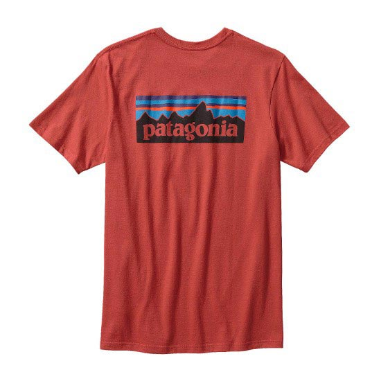 Patagonia P-6 Logo Cotton T-Shirt - Sumac Red