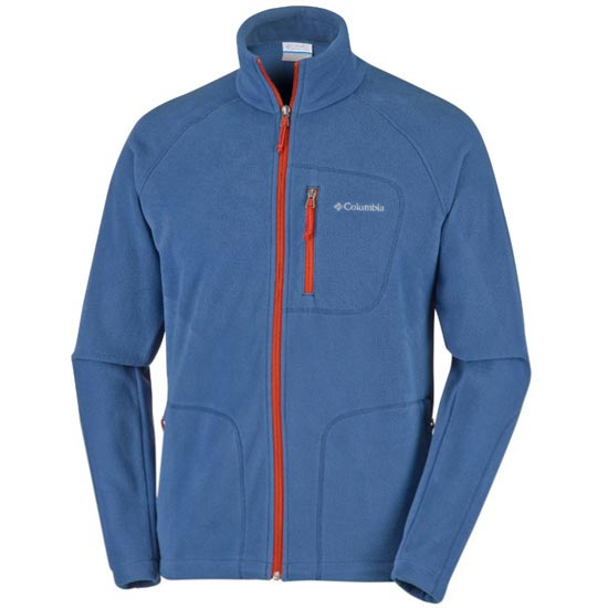 Columbia Fast Trek II Full Zip Fleece - Night Tide/Rust Red