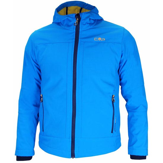 Campagnolo Softshell Fix Hood Jacket Boy - Blue