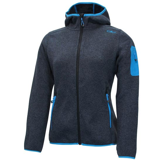Campagnolo Fleece Fix Hood Jacket W - Antracita