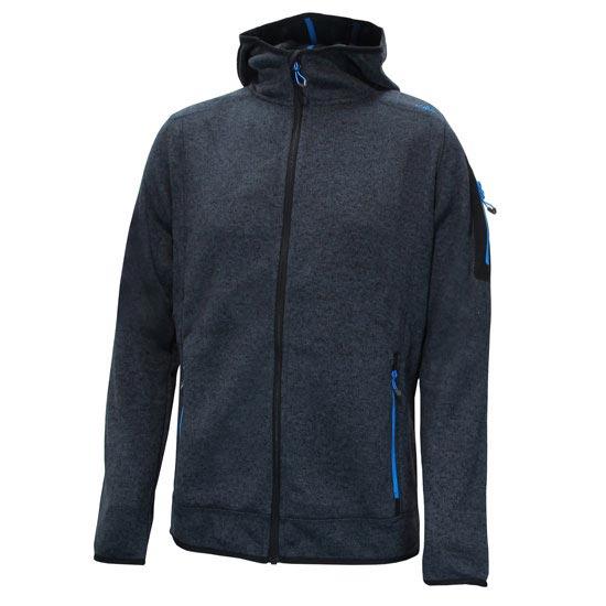 Campagnolo Man Fleece Jacket Fix Hood - Antracita