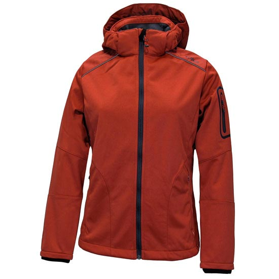 Campagnolo Softshell Zip Hood Jacket W - Orange