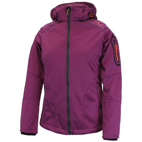 Campagnolo Softshell Zip Hood Jacket W - Aubergine