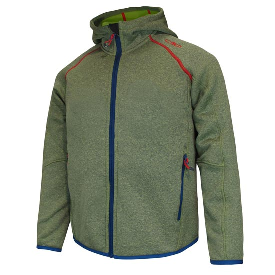 Campagnolo Fleece Jacket Fix Hoody Jr - Nautico/Ferrari