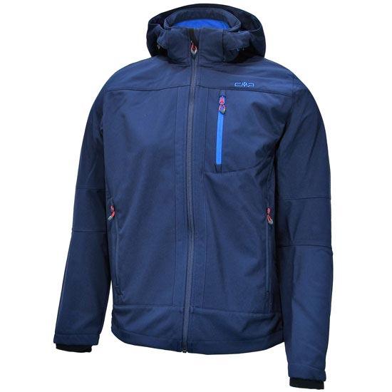 Campagnolo Softshell Zip Hood Jacket - Blue/Blue Cyan