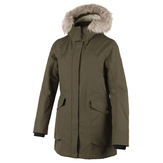 Campagnolo Parka Zip Hood Long Jacket W - Wood