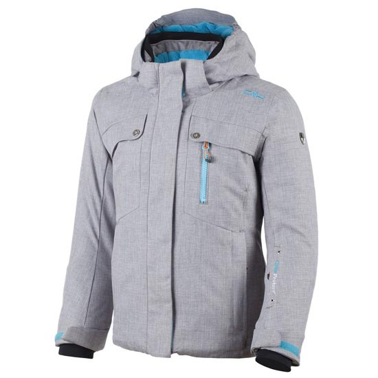 Campagnolo Snaps Hood Jacket Girl - Grey Brillant