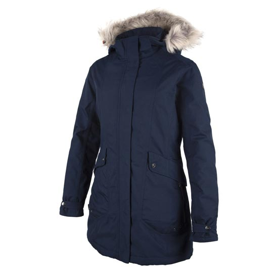 Campagnolo Zip Hood Long Jacket W - Argento Lake/Blue Tangeri