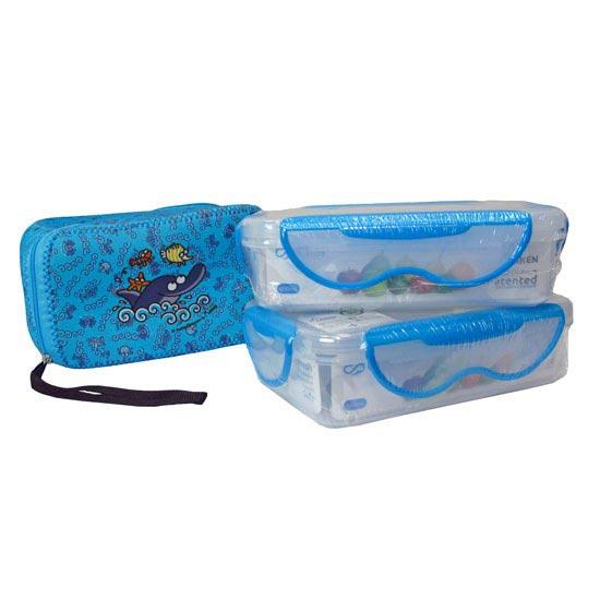 Laken Lunch Box 0.6L Delfin+Neo Cover - Photo de détail