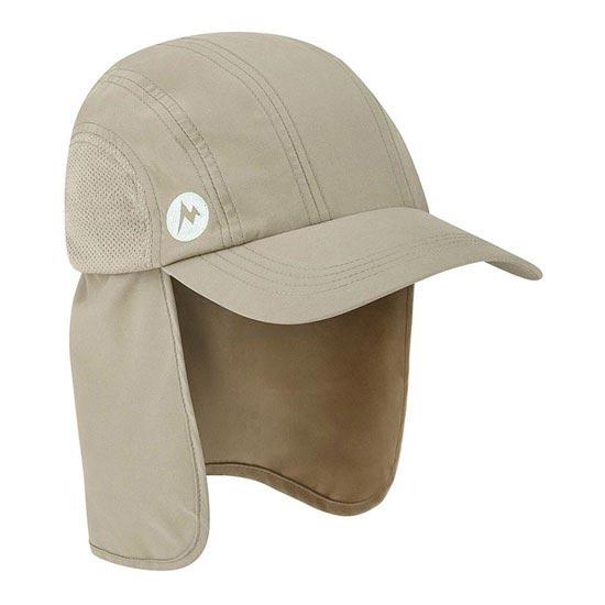 Marmot Simpson Convert Hiking Cap - Desert Khaki/Pale Lime