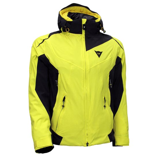 Dainese Skyward D-Dry Jacket - Vibrant Yellow/Black/Black
