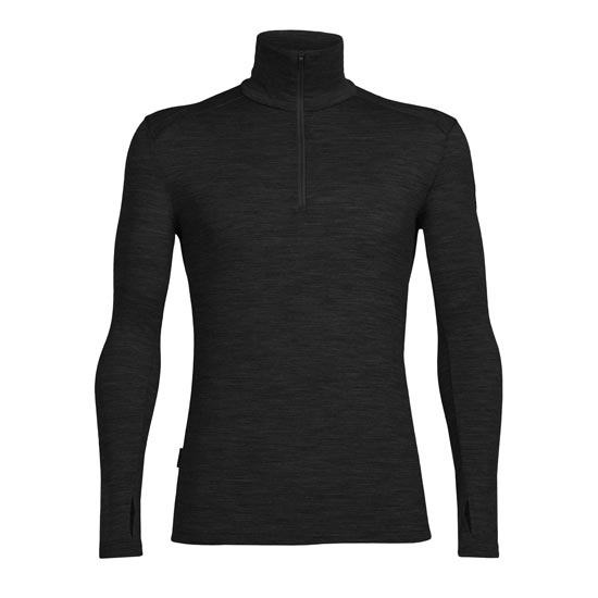 Icebreaker Tech Top LS Half Zip - Black