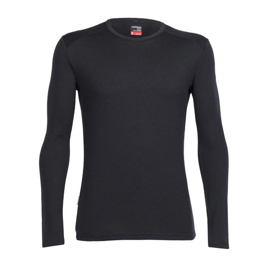 Icebreaker Tech Top LS Crewe - Black