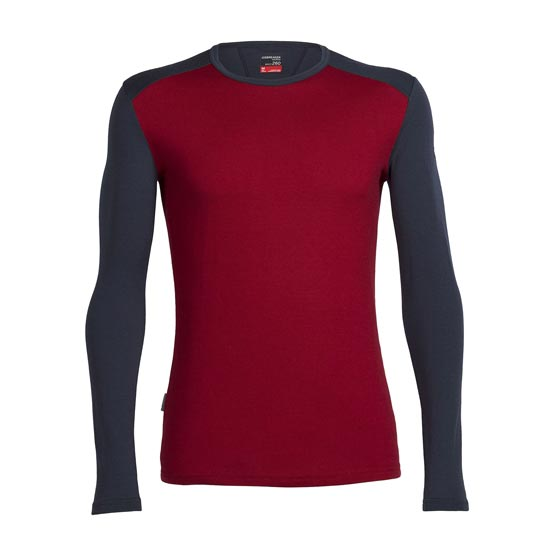 Icebreaker Tech Top LS Crewe - Oxblood