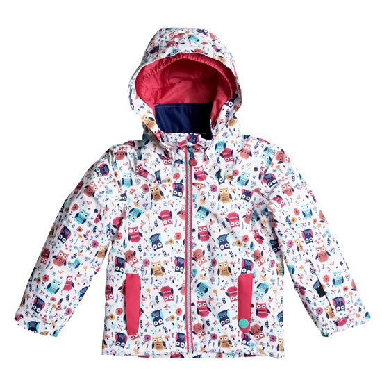 Roxy Mini Jetty Jacket Kids - Little Owl/Bright White