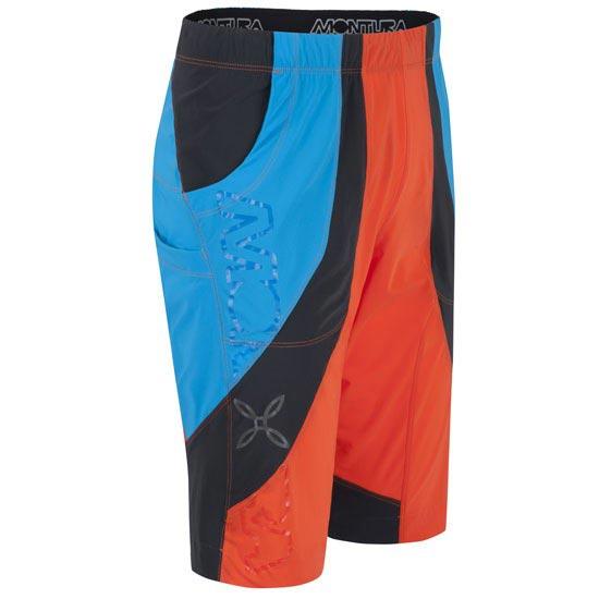 Montura Free Synt Rock Bermuda - Naranja/Azul