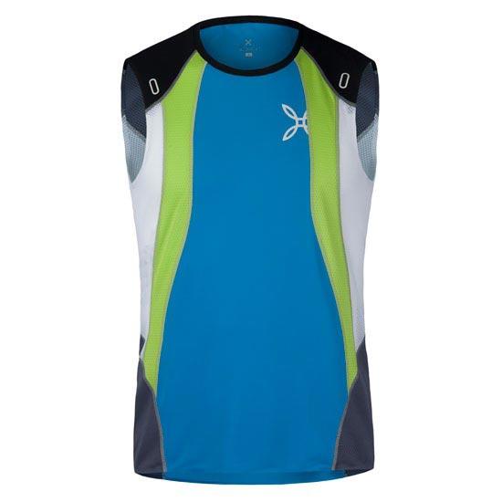 Montura Run Race Canotta - Blanco/Verde/Azul