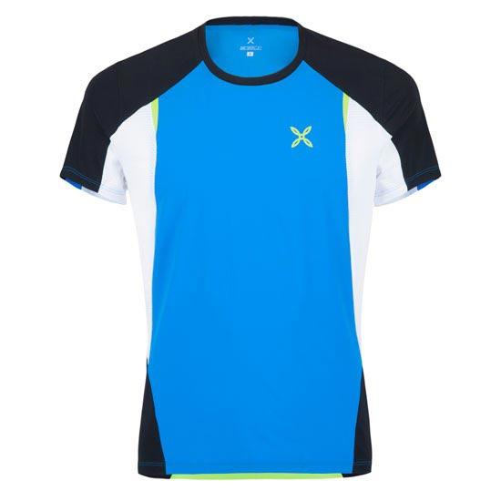 Montura Run Fast T-Shirt - Celeste/Verde Acido