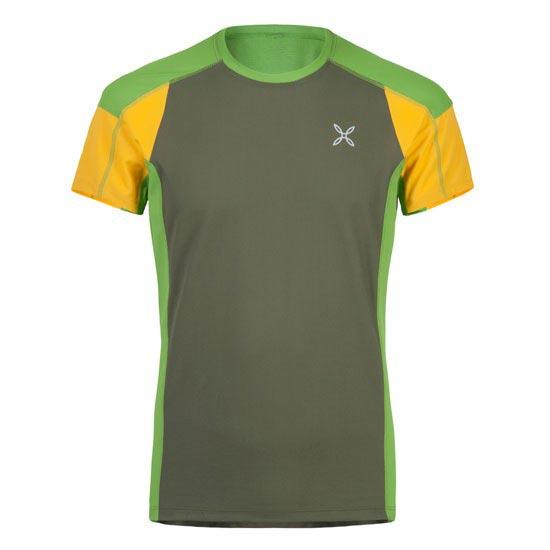 Montura Outdoor Trail T-Shirt - Verde/Amarillo
