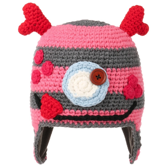 Barts Monster Earflap Kids - Rose