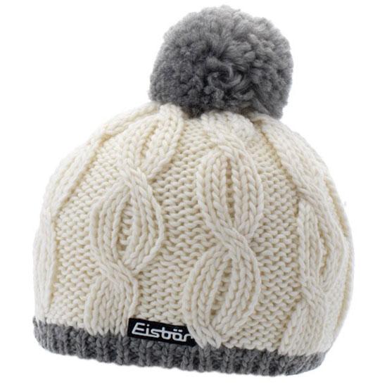 Eisbar Kiana Pompon Mütze - White/Grey