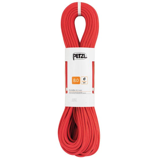 Petzl Rumba 8,0 mm x 50 m - Rojo