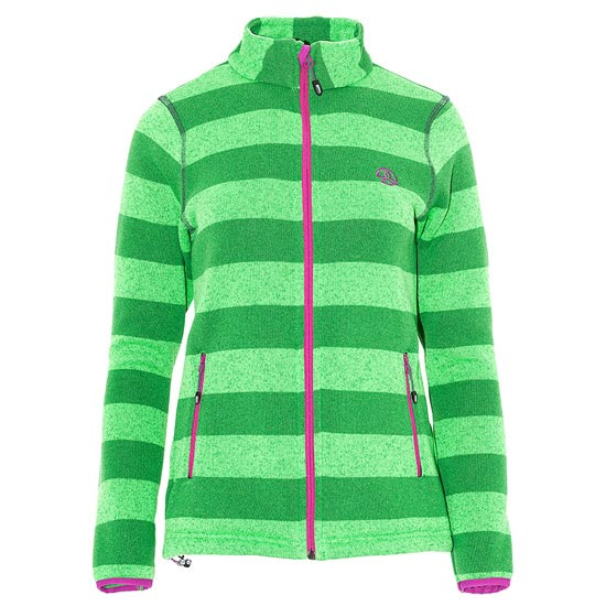 Ternua Malton Jacket W - Vibrant Green Stripes