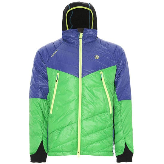 Ternua Lhotse Jacket - Deep Green/Clematis Blue