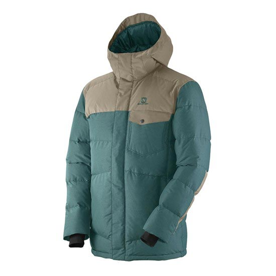 Salomon Up & Down Parka - Deep Ivy Green/Navajo